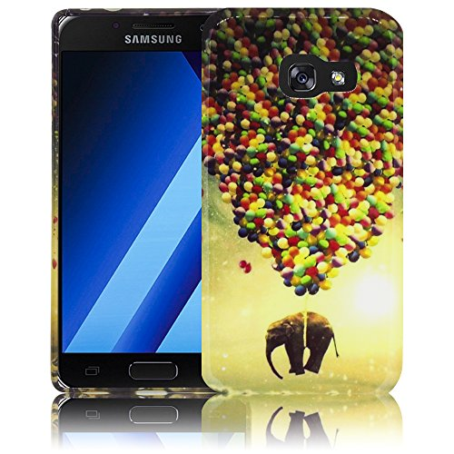 Samsung Galaxy A3 2017 Camuflaje Funda protectora de silicona Funda protectora suave Funda protectora contra el parachoques Funda protectora para teléfono móvil Funda protectora para teléfono móvil Fu Elefante volador