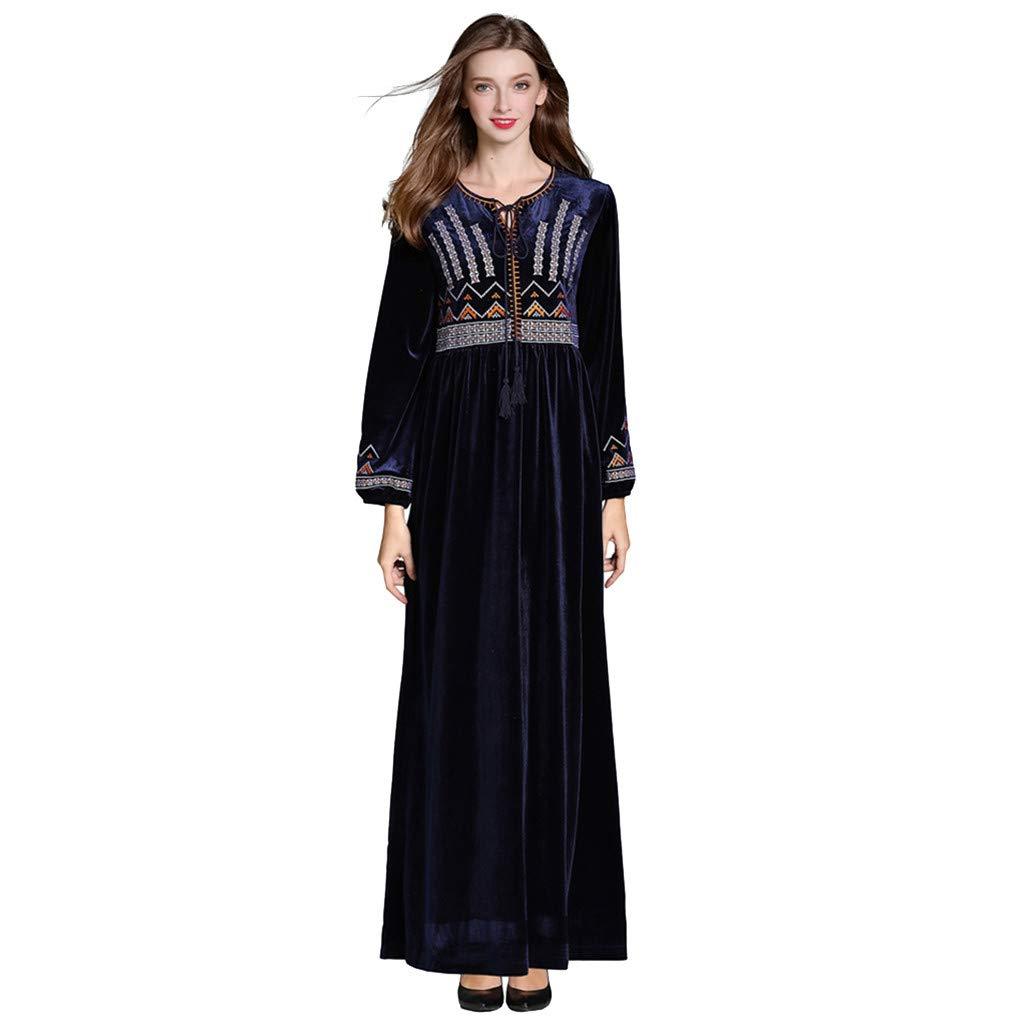 Women Arabian Maxi Dress, Zlolia Islamic Robe Middle Eastern Cardigan Dubai Clothing