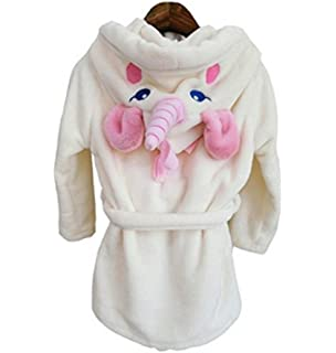 6d97a25790 VineCrown Baby Kids Bathrobes Unicorn Robe with Hooded Children Bath Towel  Animal Pajamas…