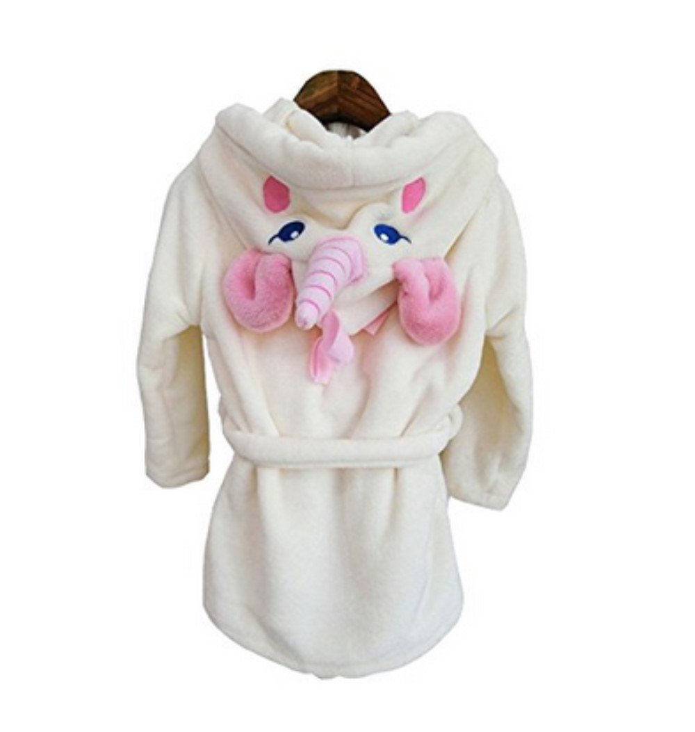 VineCrown Baby Kids Bathrobes Unicorn Robe with Hooded Children Bath Towel Animal Pajamas Dressing Gown Cosplay Costumes Dress up Homewear