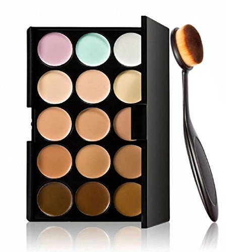 Professional Makeup Kits For Sale (Laimeng,Cosmetic Makeup Blusher Toothbrush Curve Foundation Brush+15 Colors Concealer)