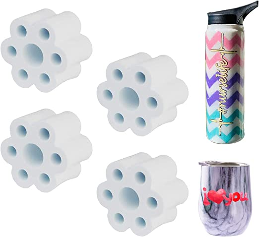 "Tumbler Turner Foam - 4 Pcs Turner Cup Accessories fit 10 20 30 oz Tumbler for 3//4 /"" PVC Pipe High Density EVA Foam for Cup Spinner Machine Grey"