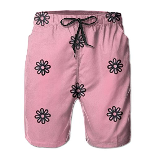 Surf Rug Longboard (Cute Chrysanthemum Pattern Men Surf Swim Trunk Pants Pocket)