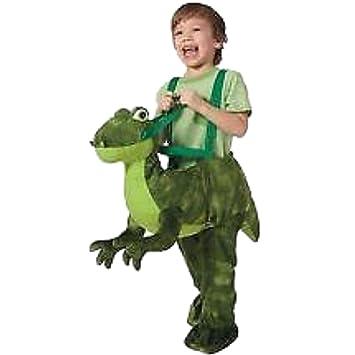 Dino Dinosaurier T Rex Reiter Anzug Kinder Jungen Fasching Halloween
