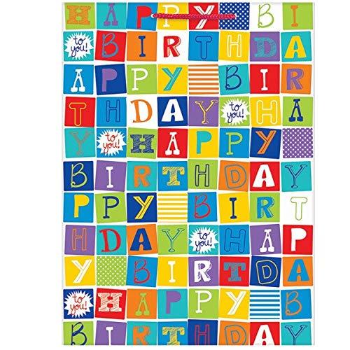 Checkerboard Birthday Jumbo Gift Bag