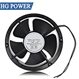 Case Fans HG POWER AC Cooling Exhaust Fans 60Hz HVAC Fans with Ball Bearing (220 x 60) For Sale