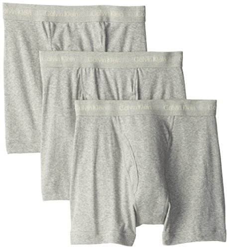 Calvin Klein Men's Underwear Cotton Classics Boxer Briefs - Large - Heather Grey (Pack of 3) - Classic 3 Pack Boxer Brief