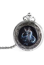Fafada® Mechanical Mens Pocket Watch Hollow Skeleton Design Dragon Pattern
