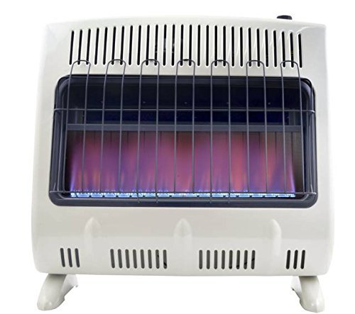 - Mr. Heater 30K BTU NG Vent Free Blue Flame Heater with Built In Blower (Natural Gas)