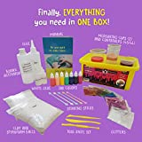NEW: Slime Kit Supplies Stuff Science Package Containers, Clay, Foam Balls, Glue, Glitter Powders- For Making Color, Clear, Rainbow, Fluffy! Girls & Boys! How to Make Slime Instructions Included