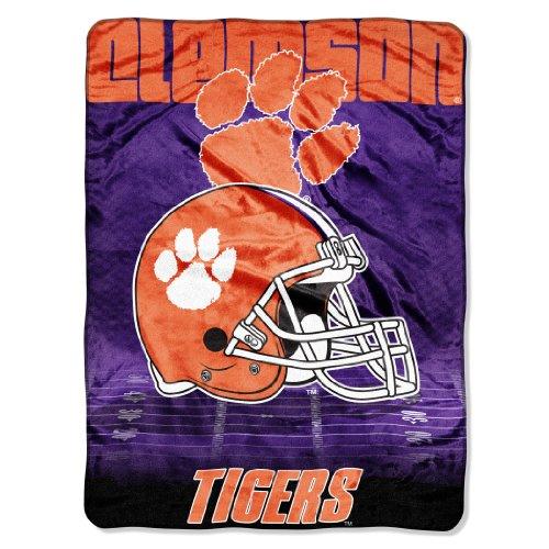 The Northwest Company NCAA Clemson Tigers Overtime Micro Raschel Throw, 60