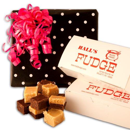 Maple Fudge Gift Box - Sitting Pretty Fudge Gift Box, 2 Pounds Hall's Fudge (Maple Walnut)