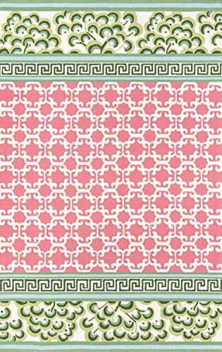 Madcap Cottage UNDERUND-4PNK2030 Under A Loggia Montserrat Area, Indoor Outdoor Rug, Pink, 2' X 3' (Pink Rugs Indoor Outdoor)