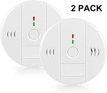 Combination Smoke And Carbon Monoxide Detector Alarm Beep Voice Warning Co Alarm Clock For Travel Home Bedroom Kitchen Living Room Basement Comply With Ul 217 2034 Standard Battery Operated 2 Pack Amazon Com