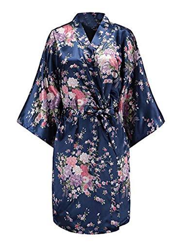 Floral Marie de Lydianbaby Marine De Courte Robe Nuit Femmes Kimono Vtements UwqqgE
