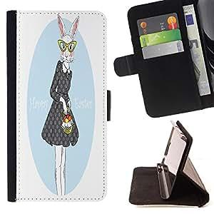 King Case - FOR Apple Iphone 4 / 4S - ?joys and sorrows - Prima caja de la PU billetera de cuero con ranuras para tarjetas, efectivo Compartimiento desmontable y correa para la mu?eca