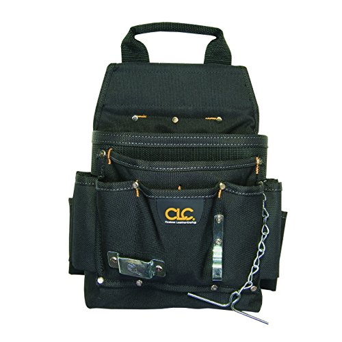 CLC Custom Leathercraft 5505 Professional Electrician's Tool Pouch, Ballistic Poly, 12-Pocket
