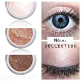 Best Natural Concealers - 3 Eyeshadows: BROWN BEIGE VANILLA 100% Organic Vegan Review