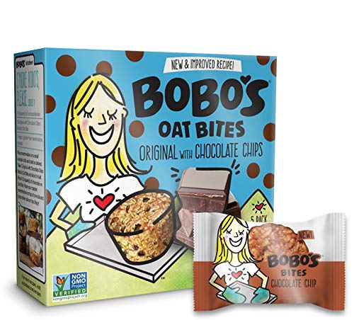 (Bobo's Oat Bites (Original with Chocolate Chips, 30 Pack Box of 1.3 oz Bites) Gluten Free Whole Grain Rolled Oat Snack- Great Tasting Vegan On-The-Go Snack, Made in the USA )