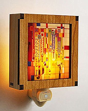 (Frank Lloyd Wright Hardwood Saguaro Night Light)