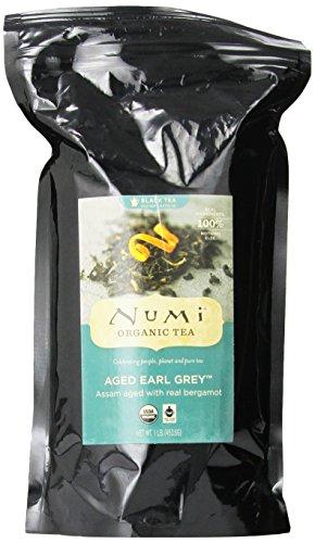 Numi Organic Tea Vieilli Earl Grey, bergamote italienne thé noir, Loose Leaf, 16 onces sac
