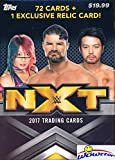 2017 Topps WWE Wrestling NXT Factory Sealed Retail Box with 72 Cards & RELIC Card! Look for Cards, Autographs & Relics of Alexa Bliss, Shinsuke Nakamura, Cathy Kelley, Asuka & Many More! WOWZZER!