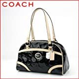 Coach Peyton Black Embossed Patent Satchel 20065, Bags Central