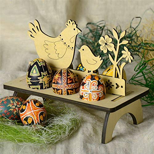 Bigmai Easter Egg Tray Holder, Cute Easter Egg Rack Tray Holder Slot Party Decorative Household Supplies Put Egg Storage Holders (Eggs not Including) by Bigmai (Image #1)