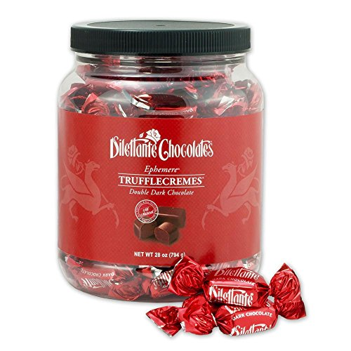 (Ephemere TruffleCremes in Double Dark Chocolate - 28oz Bulk Jar - by Dilettante)