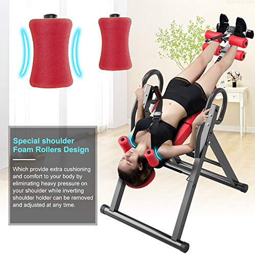 Yoleo Gravity Heavy Duty Inversion Table with Adjustable Headrest & Protective Belt (Red) by Yoleo (Image #4)
