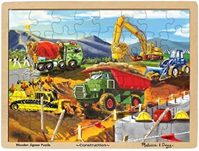 Melissa & Doug Construction Jigsaw Puzzle 48-Piece