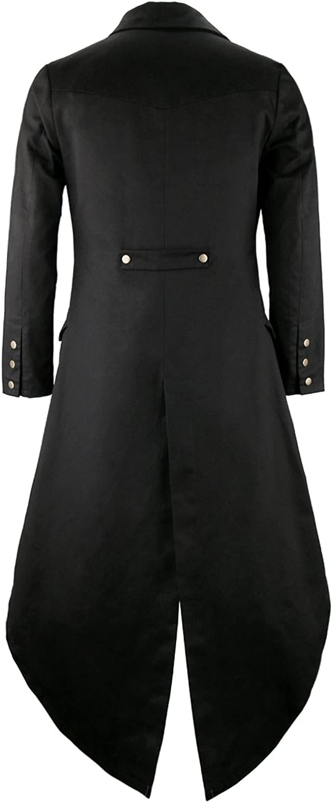 Size: Chest 42`-44`, .. COST-M NEW Black with Collar - Gothic Vampire Jacket