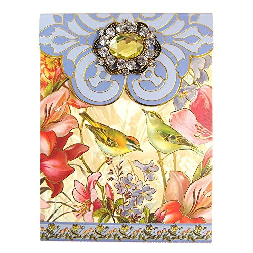 Punch Studio Brooch & Gold Foil Embellished Notepad ~ Nature's Song Bird 94482