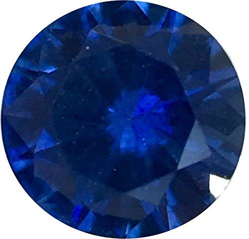 - Genuine Precision Cut Blue Sapphire Gem, Round Shape, Grade AA, 3.25 mm in Size, 0.17 Carats