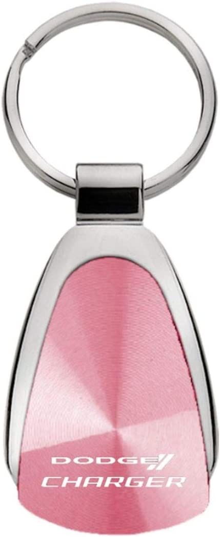 Dodge Charger Red Tear Drop Key Chain