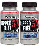 Twinlab Ripped Fuel 5X Increased Definition for Men and Women, 40 Tablets (80 Tablets)