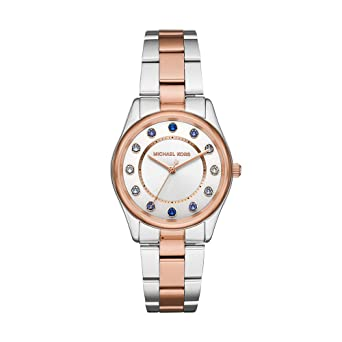 41bbec7d5944 Amazon.com  Michael Kors Women s Colette Two Tone Stainless Steel Watch  MK6605  Watches