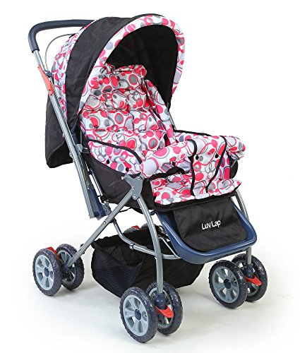 LuvLap Baby Stroller Pram Starshine Light Red