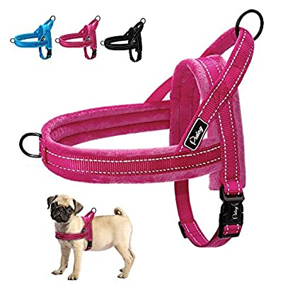 Didog Soft Flannel Padded Dog Vest Harness, Escape Proof/Quick Fit Reflective Dog Strap Harness,Easy for Walking Training