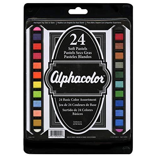 Alphacolor Soft Pastel Set Basic Colors 24ct ()
