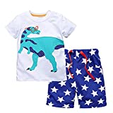 HUAER&& Little Baby Boy's Summer Cotton Cartoon Short Sleeve + Shorts Set (4T, 20088)