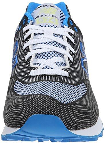 Amazon.com | New Balance Men\u0027s ML574 Woven Collection Classic Running Shoe,  Black/Blue, 13 D US | Shoes