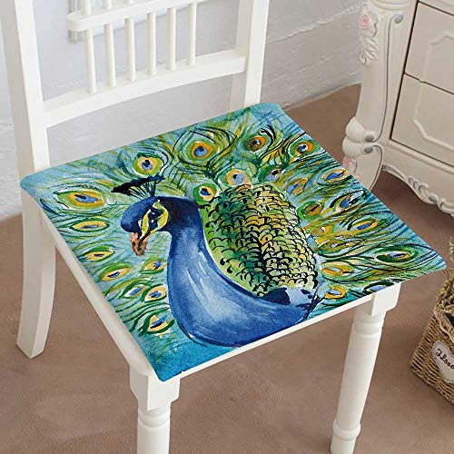 Mikihome Indoor/Outdoor All Weather Chair Pads Peacock Seat Cushions Garden Patio Home Chair Cushions 20