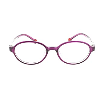 EyeBuyExpress Prescription Boys Girls Violet Clear Cool Childrens Reading  Glasses Anti Glare Quality +0.75