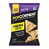 POPCORNERS Cinema Style (Butter), Popped Corn Chips, Gluten Free, Non-GMO (5oz/12 Pack)
