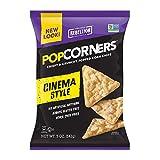 POPCORNERS Cinema Style (Butter), Popped Corn Chips, Gluten Free, Non-GMO (5oz/12 Pack)