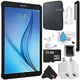 Samsung Galaxy Tab E T560 9.6 Inch - 16GB Tablet (Black - SM-T560NZKUXAR) Bundle with 32GB micro SD Memory Card