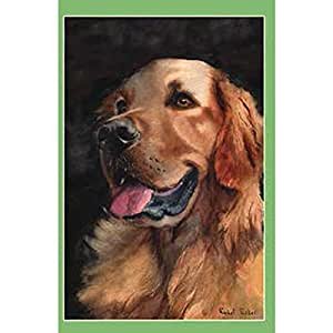 Bandera del perro. Golden Retriever. Golden amigo