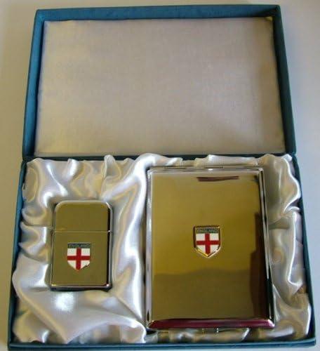 Inglaterra – Inglés St George gasolina tormenta prueba encendedor cigarrillo caso: Amazon.es: Hogar
