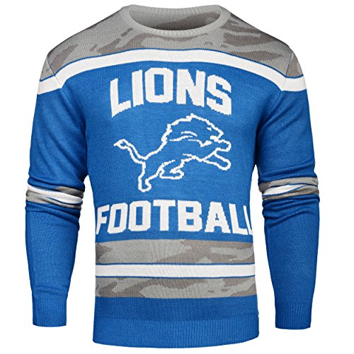 FOCO Detroit Lions Ugly Glow In The Dark Sweater - Mens - Mens Extra Large by FOCO
